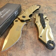 MTECH BALLISTIC Titanium Assisted Opening Tactical Folding Rescue Gold Knife