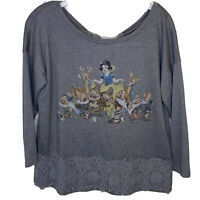 Disney Collection Lauren Conrad Womens Snow White Seven Dwarfs Gray Size S