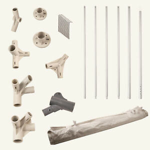 GAZEBO SPARE REPLACEMENT PARTS MIX AND MATCH POLES FIXINGS FEET SIDE WALL CANOPY