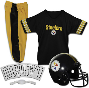 Pittsburg Steeler Uniform Set Youth NFL Football Jersey Helmet Costume Large