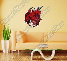 """Red Dragon Creature Reptile Lizard Wall Sticker Room Interior Decor 22"""""""