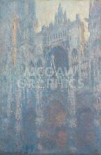 "MONET CLAUDE -THE PORTAL OF ROUEN CATHEDRAL - ART PRINT POSTER 14"" X 11""(2891)"
