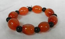 Orange Agate Beaded Bracelet - Stunning Item - New