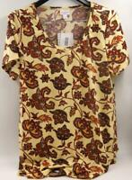 NWT Lularoe Classic T Yellow/red Women's Top Sz Large New W/Tags