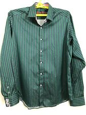 Robert Graham X Men's 2XL TALL Geometric Long Sleeve Shirt EUC Flip Cuff XXL