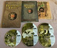 Baldur's Gate 1 - 1998 PC Computer Original Video Game 5-CD Set w/Manual & Map!