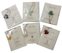 Pendant Cord Necklace with Semi Precious Stone Heart by Lucas Jack Punch London