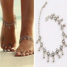 Fashion Charm Anklets Vintage Foot Jewelry Silver Flower Ankle Chain Bracelet