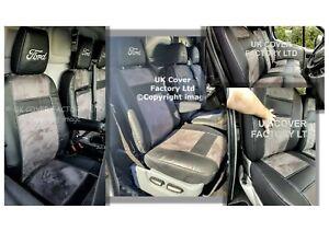 READY IN STOCK!! 2001-2012 FORD TRANSIT MK7 VAN SEAT COVER  DARK GREY ALCANTARA