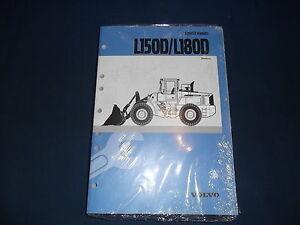 VOLVO L150D L180D WHEEL LOADER SERVICE SHOP REPAIR MANUAL BOOK NEW