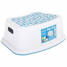 Wham Anti-Slip Step Stool Plastic Multi-Purpose Kid's Bathroom Kitchen - White