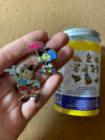 New 2020 Ink & Paint Pins with Paint Can- Jiminy Cricket & Pinocchio- 2 Pin Set