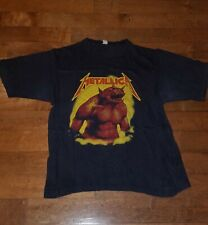 Metallica Vintage original Red logo jump in the fire shirt 1984