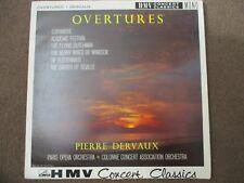 PIERRE DERVAUX / PARIS OPERA ORCHESTRA - OVERTURES - LP - HMV - XLP 20039 - UK