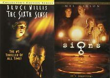 M. Night Shyamalan Dvd Lot: The Sixth Sense (Bruce Willis)   Signs (Mel Gibson)