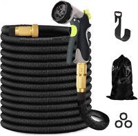 Home 75 100 FT Expanding Flexible Garden Water Hose with Spray Nozzle