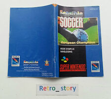 Super Nintendo SNES Sensible Soccer Notice / Instruction Manual