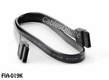 19inch SATA-3 (Serial-ATA) Flat 7-Pin Data Cable, 6Gb/s, Black, FIA-019K