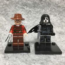 2PCS Horror Movie Scream Ghostface & Freddy Mini Figure Toy Rare