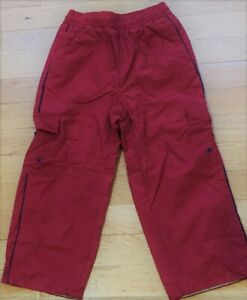 NEW Vintage Red GYMBOREE Scouts Honor Outdoor Excursion Cargo PANTS Lined 4 NWT