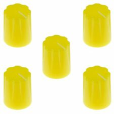 "5 x Jaune Davies 1900 H Style 1/4"" 6.35 mm Audio Guitare Potentiomètre Knob"