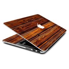 Skin Wrap for MacBook Pro 15 inch Retina  Red Deep Mahogany Wood Pattern