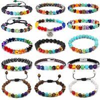7 Chakra Bracelet Crystal Jewellery Healing Stones Balance Reiki Anxiety Stress