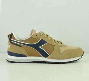 Scarpe da uomo Diadora Olympia sportivo calzature sneakers beige tortora blu