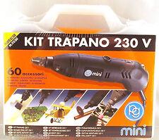 KIT mini trapano PG 230V + 60 accesori smerigliare lucidare tagliare incidere