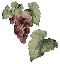 Tuscan Grape Wallies 25 Purple Clusters Stickers Decals Vinyard Wine Grapes Leaf