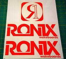 2011 RONIX ORANGE LOGO STICKER You Get 2 WAKEBOARD DECAL