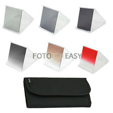 6pcs Gradual Graduated ND ND2 ND4 ND8 Grey Brown Red Filter for Cokin P Series