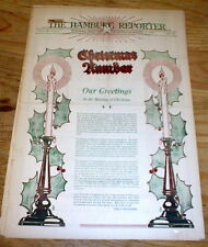 1921 newspaper w COLOR POSTER display on THE MEANING of CHRISTMAS Hamburg IOWA