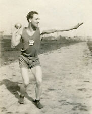 ANTIQUE VINTAGE AMERICAN SHOTPUT TRACK FIELD HP HIGH MAN MUSCLES GAY INT PHOTO