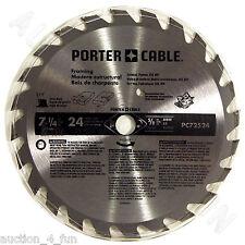 "Porter Cable PC72524 7-1/4"" 24TPI Circular Saw Blade for Framing 24Carbide Tooth"