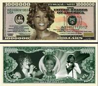 A VOIR ! WHITNEY HOUSTON - BILLET de COLLECTION 1 MILLION DOLLAR US !