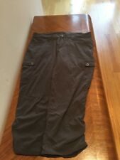 Eddie Bauer Cropped Lightweight Cargo Stle Pants 8R Gray