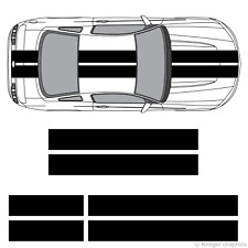 """Ford Mustang 10"""" Solid Racing Stripes 3M Vinyl Decal Kit 10in 10 inch"""