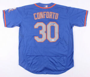Michael Conforto Signed New York Mets Majestic Jersey (JSA COA) 2017 All Star OF