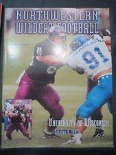 1997 UNIVERSITY OF WISCONSIN BADGERS FOOTBALL PROGRAM VS NORTHWESTERN WILDCATS