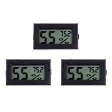 3Pcs Mini Reptile Thermometer Hygrometer Lizard Gecko Snake Frog Turtle Guage