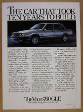 1983 Volvo 760 GLE 760GLE Sedan color photo vintage print Ad