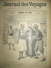 JOURNAL DES VOYAGES N° 242 TURQUIE EXECUTION D'UN VOLEUR 1901