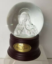 San Francisco Music Box Co ADAMS Snow Globe Our Lady Madonna Lights Up Vintage