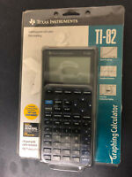 Texas Instruments TI-82 Gray Graphing Calculator I/O Port Cable & Manual in box