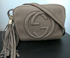 Authentic Gucci Soho Nubuck Leather Disco Crossbody Bag