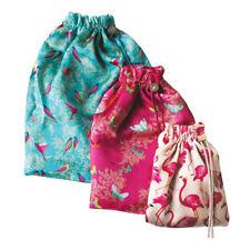 Sara Miller Silk Travel Bag Set of 3 Mixed Designs