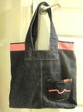 7 Seven for all Mankind Denim Jean Tote Purse School/Book Bag- Neiman Marcus