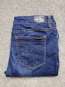 Calvin Klein Jeans Womens 31 Skinny Leg Low Rise Stretch Blue Wash 31 x 30