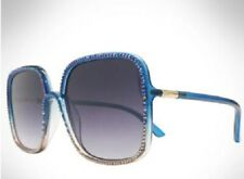 NEW Swarovski Crystals Sunglasses Pink Blue Jimmy Crystal Rhinestone Trim Square